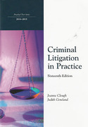 Cover of Northumbria LPC: Criminal Litigation in Practice 2014-2015