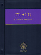 Cover of Fraud: Criminal Law and Procedure Looseleaf