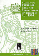 Cover of A Guide to the Trusts of Land and Appointment of Trustees Act 1996