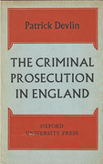 Cover of The Criminal Prosecution in England