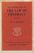 Cover of An Introduction to the Law of Contract 1st ed