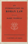 Cover of An Introduction to Roman Law