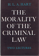 Cover of The Morality of the Criminal Law: Two Lectures