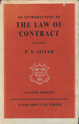 Cover of An Introduction to the Law of Contract
