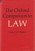 Cover of The Oxford Companion to Law