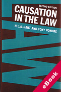 Cover of Causation in the Law (eBook)