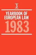 Cover of Year Book of European Law: Vol 3