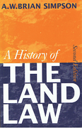 Cover of A History of The Land Law