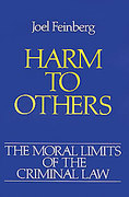 Cover of The Moral Limits of the Criminal Law: Volume 1. Harm to Others