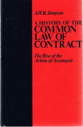 Cover of A History of the Common Law of Contract