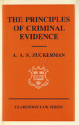 Cover of The Principles of Criminal Evidence
