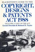 Cover of Blackstone's Guide to The Copyright, Designs and Patents Act 1988