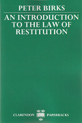 Cover of An Introduction to the Law of Restitution