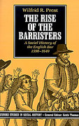 Cover of The Rise of the Barristers: A Social History of the English Bar 1590-1640