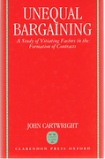 Cover of Unequal Bargaining: A Study of Vitiating Factors in the Formation of Contracts