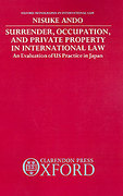 Cover of Surrender, Occupation and Private Property in International Law