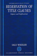 Cover of Reservation of Title Clauses: Impact and Implications