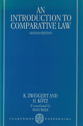 introduction to comparative law zweigert