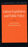 Cover of Labour Legislation and Public Policy: A Contemporary History
