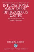 Cover of International Management of Hazardous Wastes