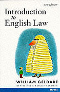 Cover of Introduction to English Law