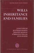 Cover of Wills, Inheritance and Families