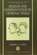 Cover of Hearsay and Confrontation in Criminal Trials