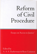 Cover of Reform of Civil Procedure: Essays on Access to Justice