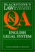 Cover of Blackstone's Q&A: English Legal System (No New Edition)