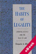 Cover of The Habits of Legality: Criminal Justice and the Rule of Law (eBook)