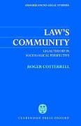 Cover of Law's Community: Legal Theory in Sociological Perspective