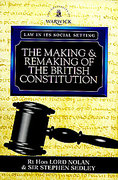 Cover of The Making and Remaking of the British Constitution