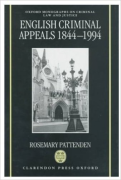 Cover of English Criminal Appeals 1844-1994