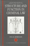 Cover of Structure and Function in Criminal Law