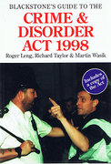 Cover of Blackstone's Guide to the Crime and Disorder Act, 1998