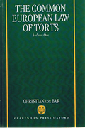 Cover of Common European Law of Torts: Volume 1