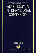 Cover of Autonomy in International Contracts