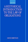 Cover of A Historical Introduction to the Law of Obligations