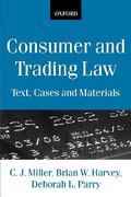 Cover of Consumer and Trading Law: Text, Cases and Materials