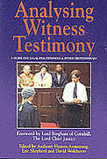 Cover of Analysing Witness Testimony: A Guide for Legal Practitioners and Other Professionals