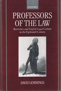 Cover of Professors of the Law: Barristers and English Legal Culture in the Eighteenth Century