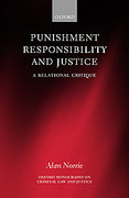 Cover of Punishment, Responsibility and Justice: A Relational Critique