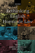 Cover of Rethinking English Homicide Law