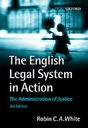 Cover of The English Legal System in Action