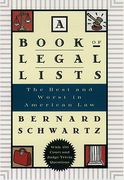 Cover of A Book of Legal Lists: The Best and Worst in American Law with 150 Court and Judge Trivia Questions