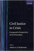 Cover of Civil Justice in Crisis: Comparative Perspectives of Civil Procedure