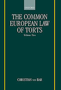 Cover of Common European Law of Torts: Volume 2