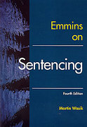 Cover of Emmins on Sentencing