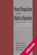 Cover of Penal Populism and Public Opinion (eBook)