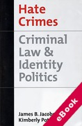 Cover of Hate Crimes: Criminal Law and Identity Politics (eBook)